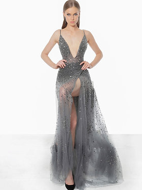 J Gunmetal Skort Gown