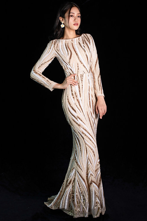 Camillle Cascade Gown