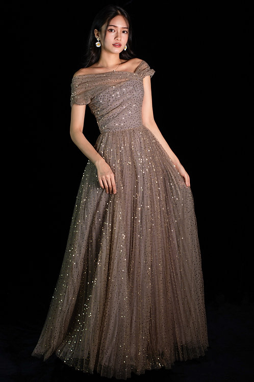 Messier Galaxy Pleated Gown