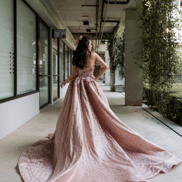 PORTIA SCARLETT Fleur with overskirt