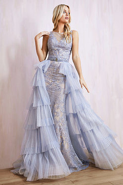 AL Aria Lace Tiered Gown C
