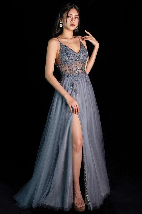 Smoky Blue Venice Gown