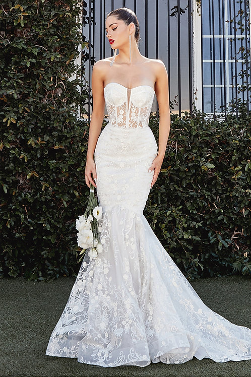 CD Cassia Strapless Mermaid Bridal Gown