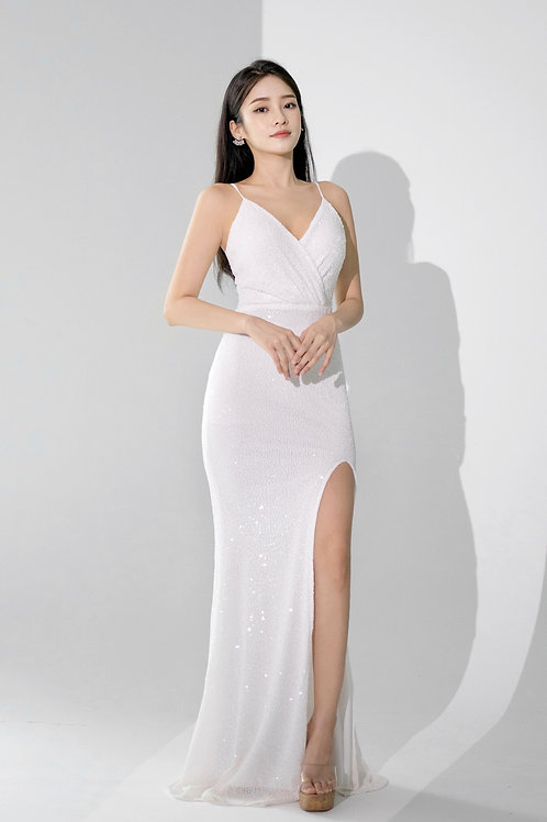 Lite After Dark Keren White Gown