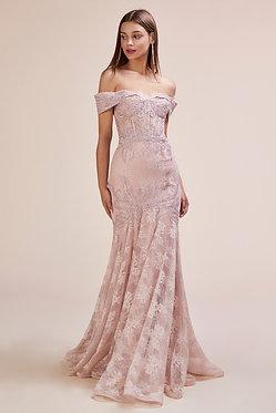 AL Jolie Lace Gown Blush