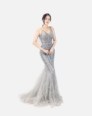 S Hebe Feather Gown