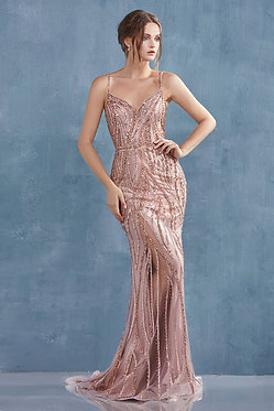 AL Alexa Flame Gown Rose Gold