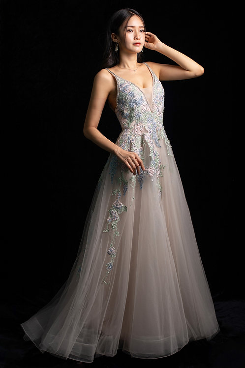 S Ivory Blossoming Gown