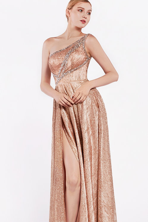 CD Keyhole Ice Gown Rose Gold