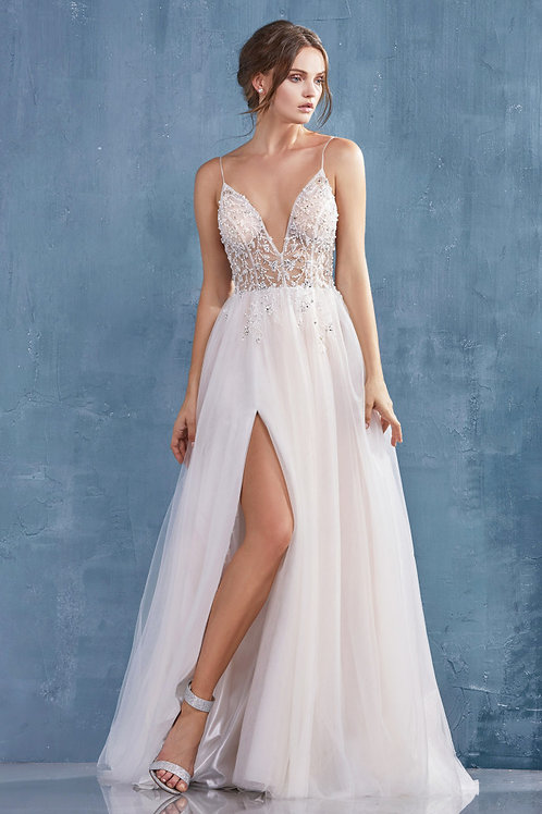 AL Ivory Nude Venice Gown