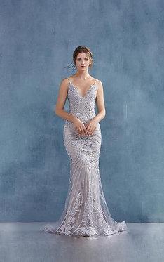 AL Gloria Moonlight Silver Gown