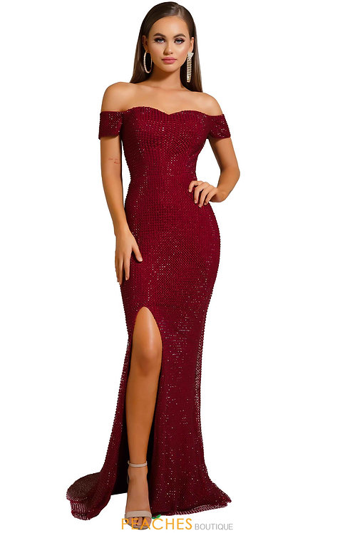 PS Angelique Red Off Shoulder Gown