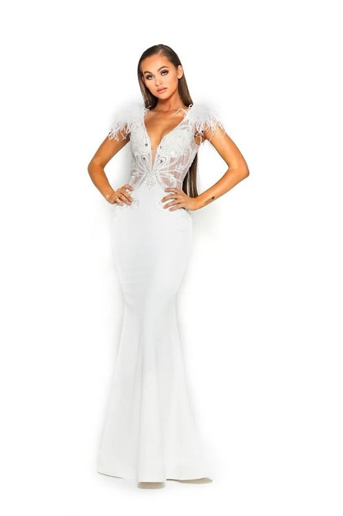 PS Fufu White Gown