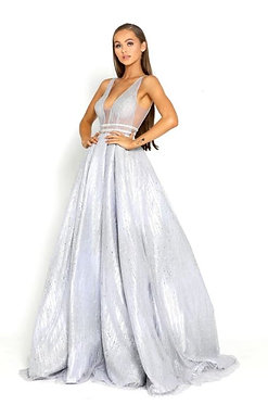 PS Cmaine Silver Ball Gown