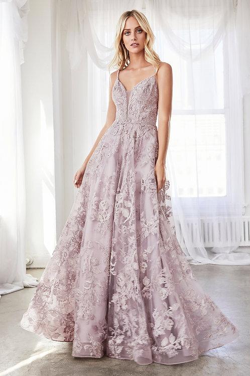 CD Mauve Blossom Gown