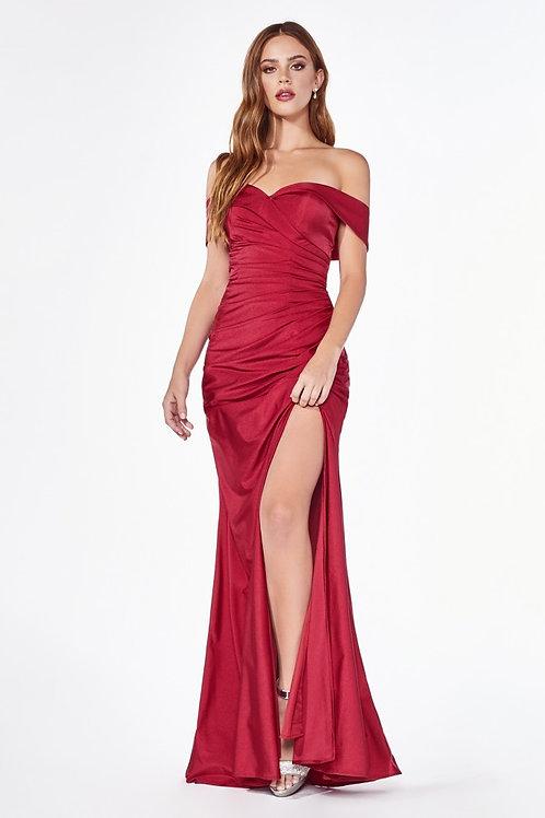 CD Hugo Bardot Gown Red