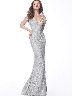 J Diamond Soutache Gown