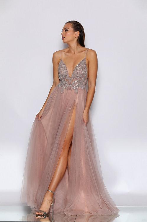 JA Arya Dusty Pink Gown