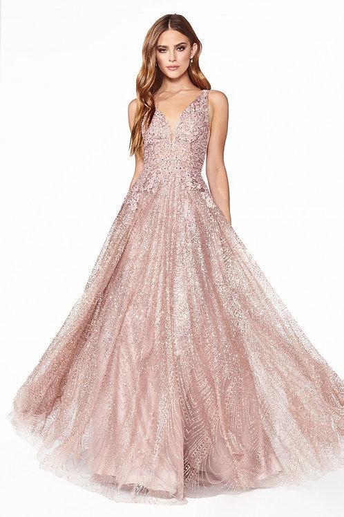CD Heidie Rose Gold Gown