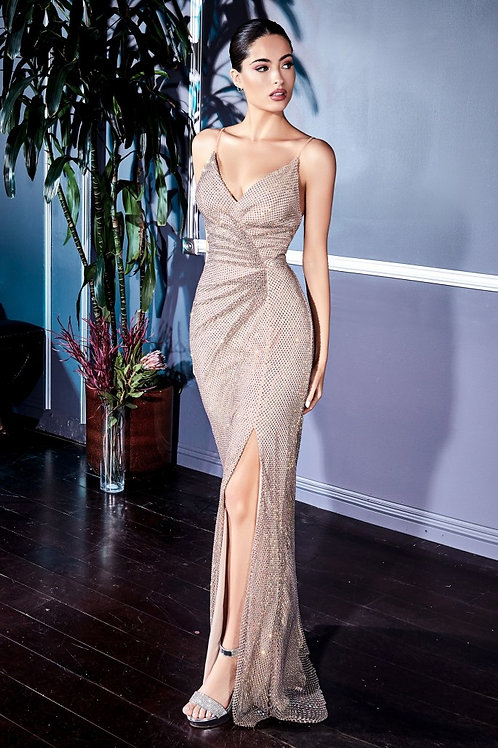 CD Champagne Crystal Gown