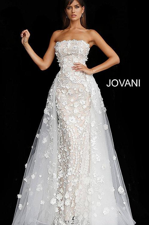 J Floral Appliques Gown