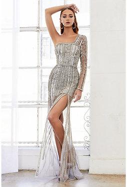 AL Rita Modern One Sleeve Gown