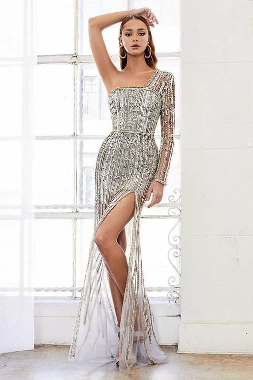 AL Rita Modern One Sleeve Gown