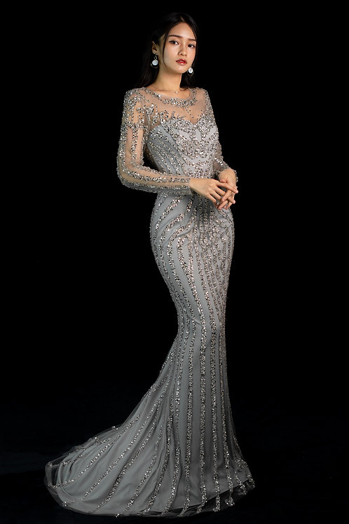 S Silver Eira Gown