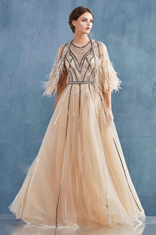 AL Gabriela Furry Gown