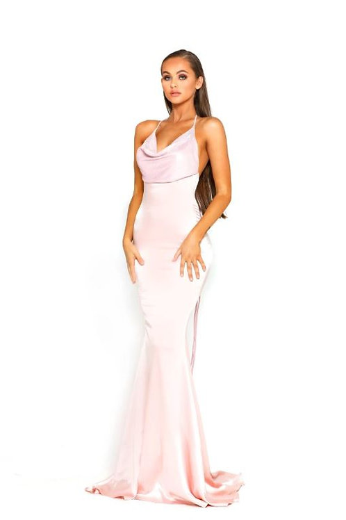 PS Pink Cowl Neck Gown