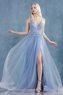 AL Medusa Gown Dusty Blue