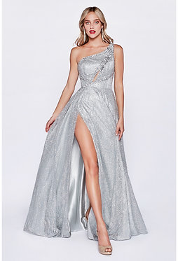 CD One Shoulder Keyhole Ice Gown