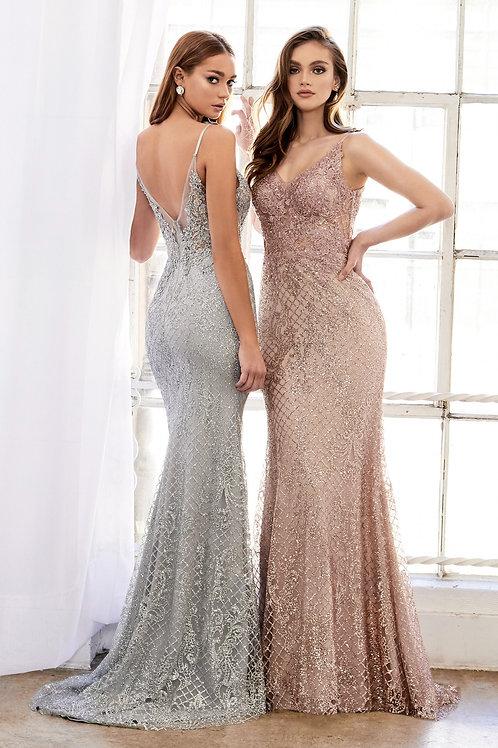 AL Melanie Frozen Rose Gold Gown