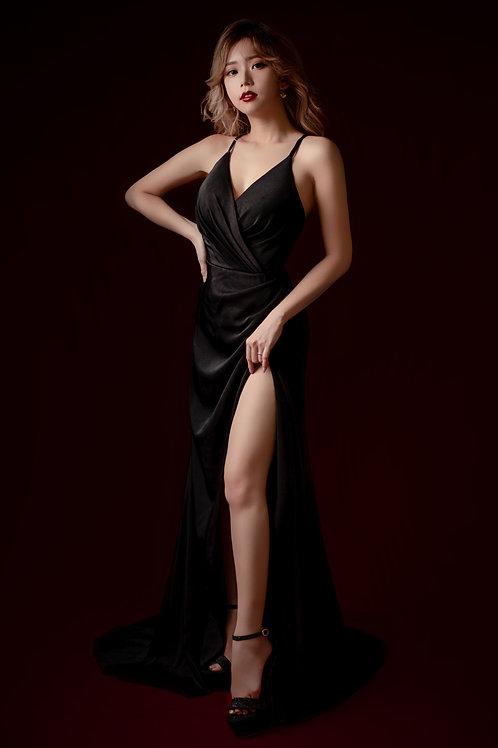 S Black Keren Gown