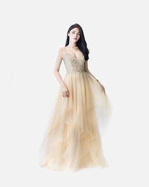 S Gold Hayley Gown