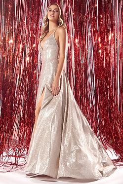 CD Freya Metallic Champagne Gown