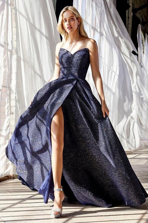 CD Strapless Midnight Blue Ballgown
