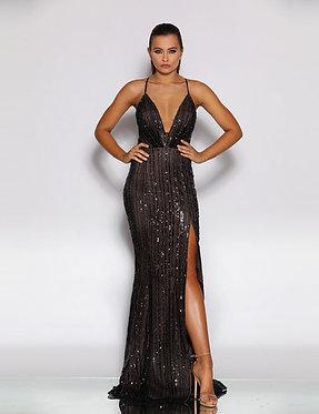 JA Nyx Monique Black Nude Gown