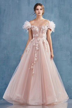 AL Diana Detachable Feather Gown