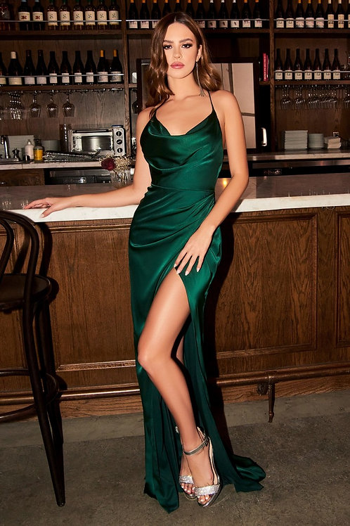 CD Dana Crossback Gown Emerald