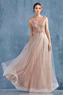 AL Vespertine Gown Rose Gold