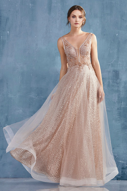 AL Vespertine Gown Rose Gold