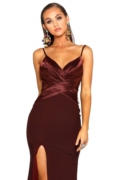 PS Silk Burgundy Gown
