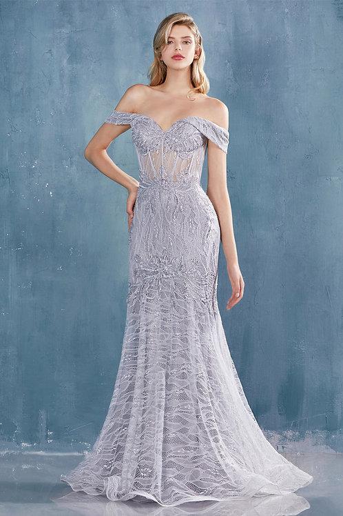 AL Jolie Lace Gown Silver