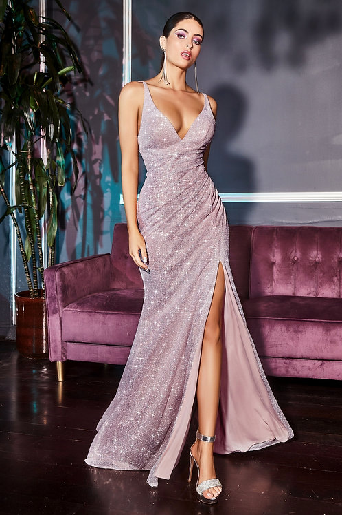 CD Nephilda Diamond Dust Gown Mauve