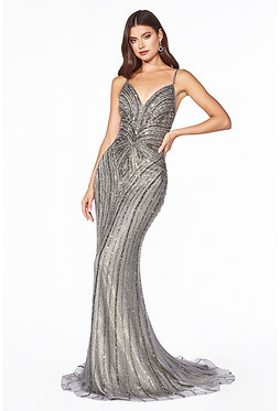 CD Alexa Flame Silver Gown