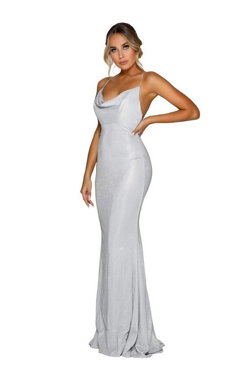PS Diamond Dana Silver Cowl Gown