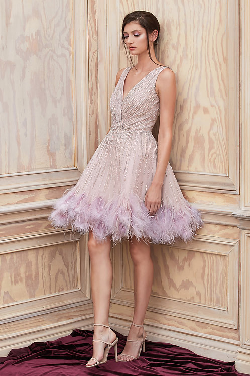 AL Wren Midi Dress Mauve
