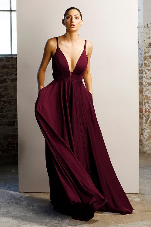 JA Cecille Plum Gown