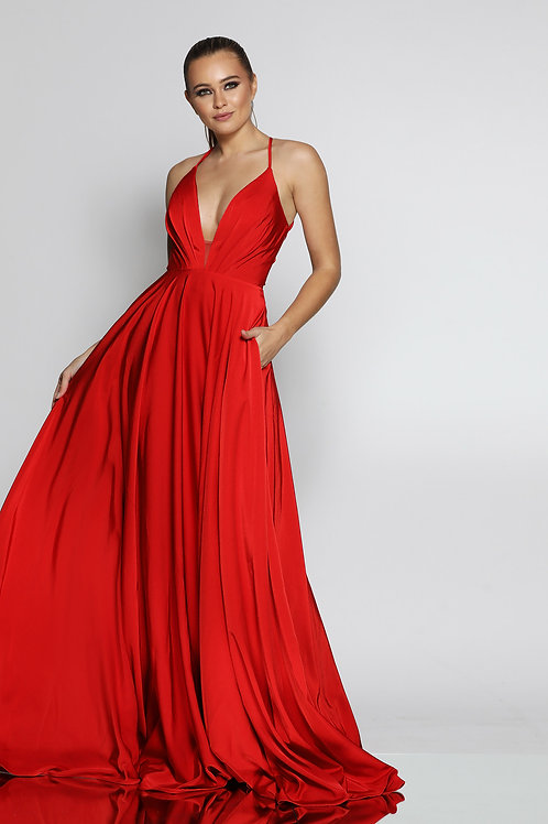 JA Cecille Red Gown